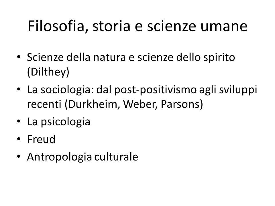 Filosofia, storia e scienze umane