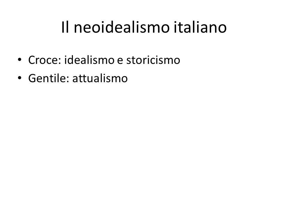 Il neoidealismo italiano