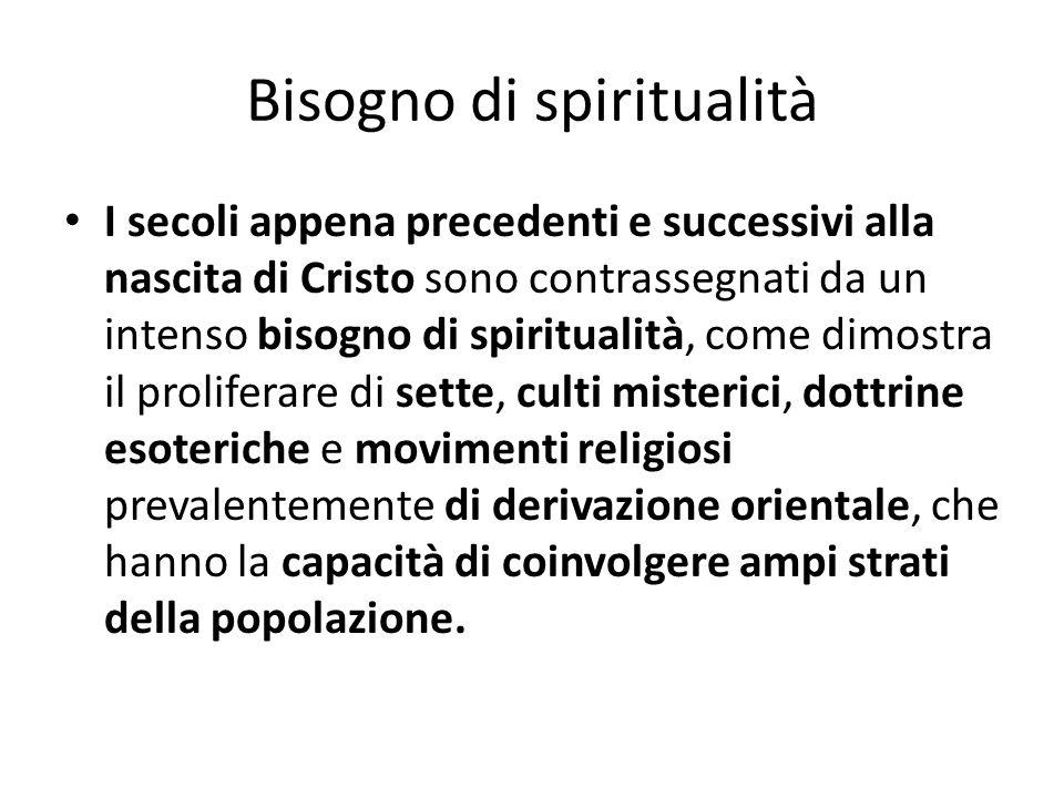 Bisogno di spiritualità