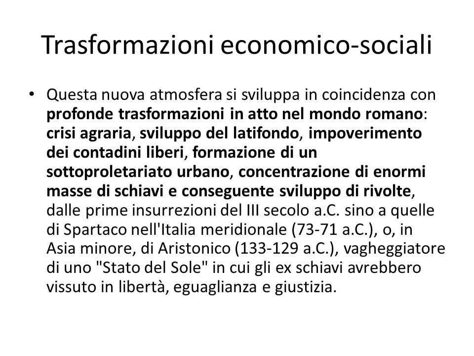 Trasformazioni economico-sociali