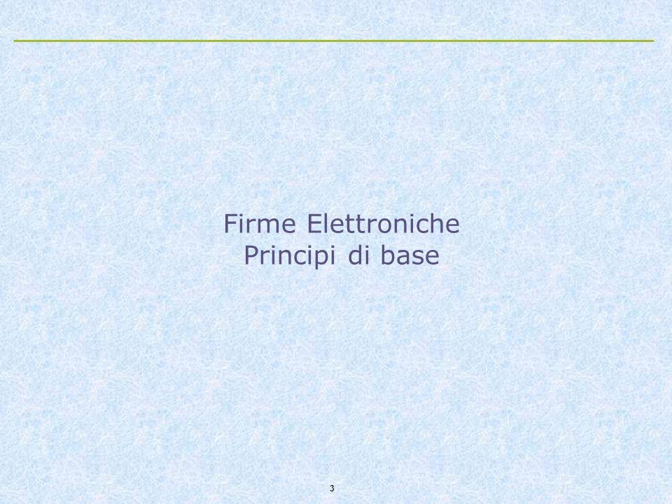 Firme Elettroniche Principi di base