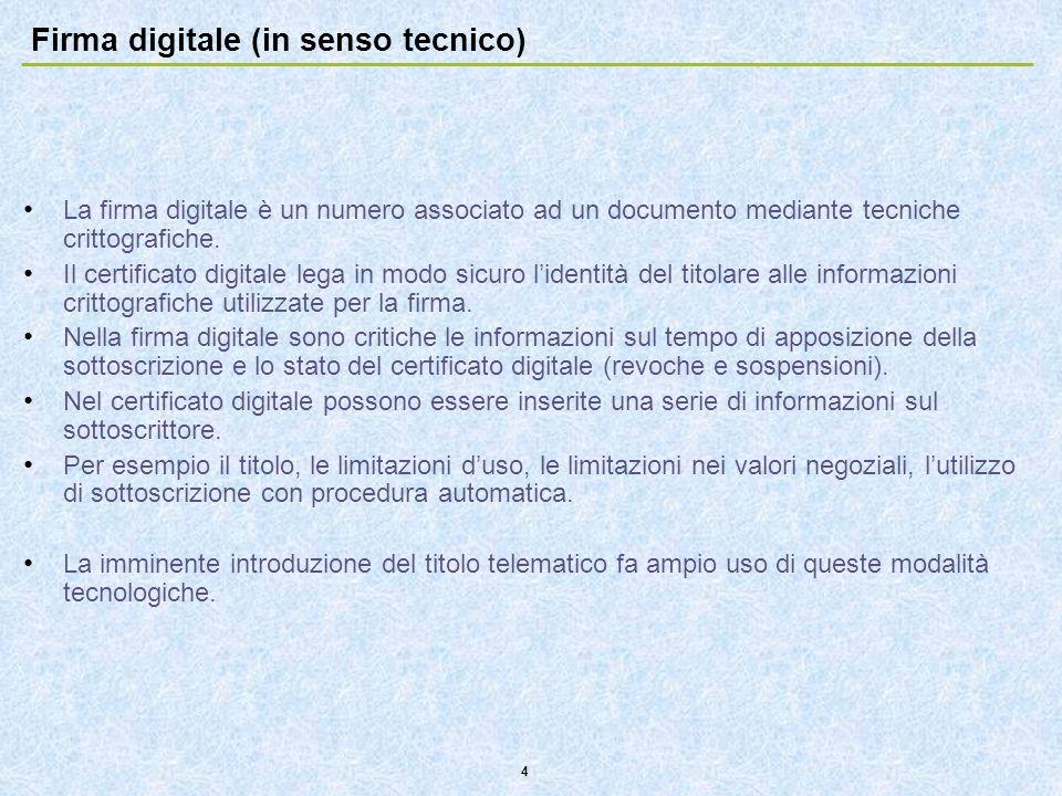 Firma digitale (in senso tecnico)