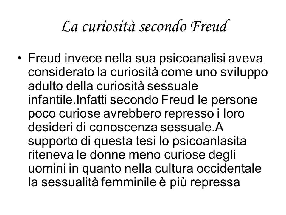 La curiosità secondo Freud