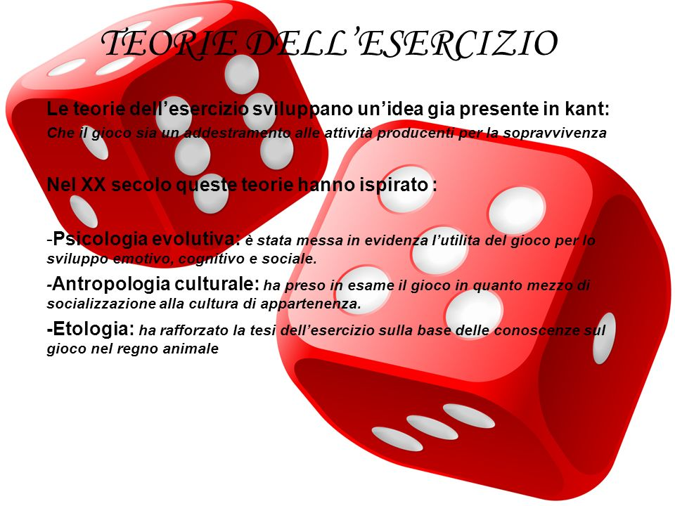 TEORIE DELL'ESERCIZIO