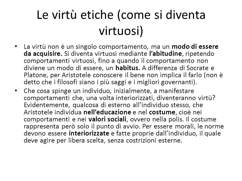 Le virtù etiche (come si diventa virtuosi)