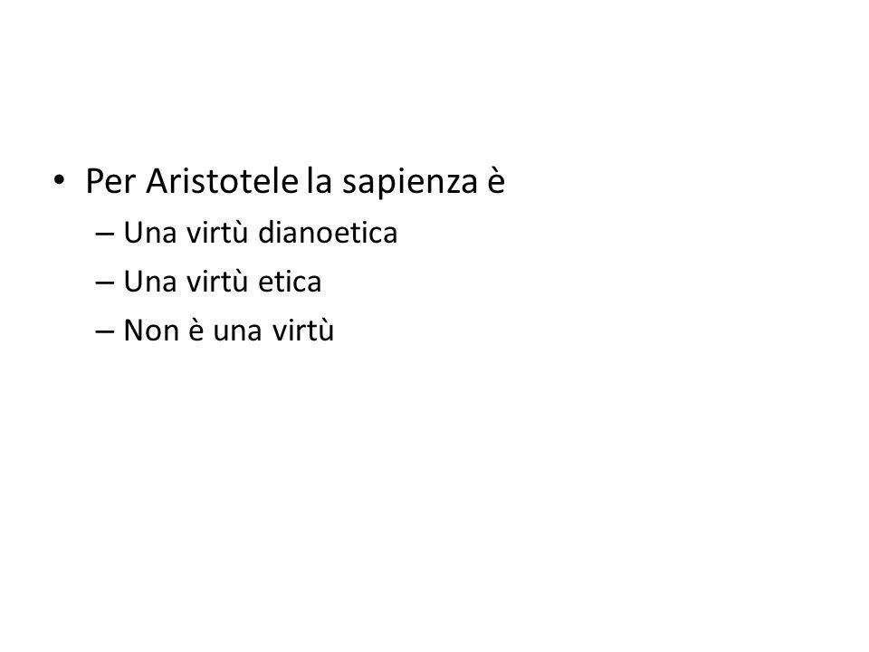 Per Aristotele la sapienza è
