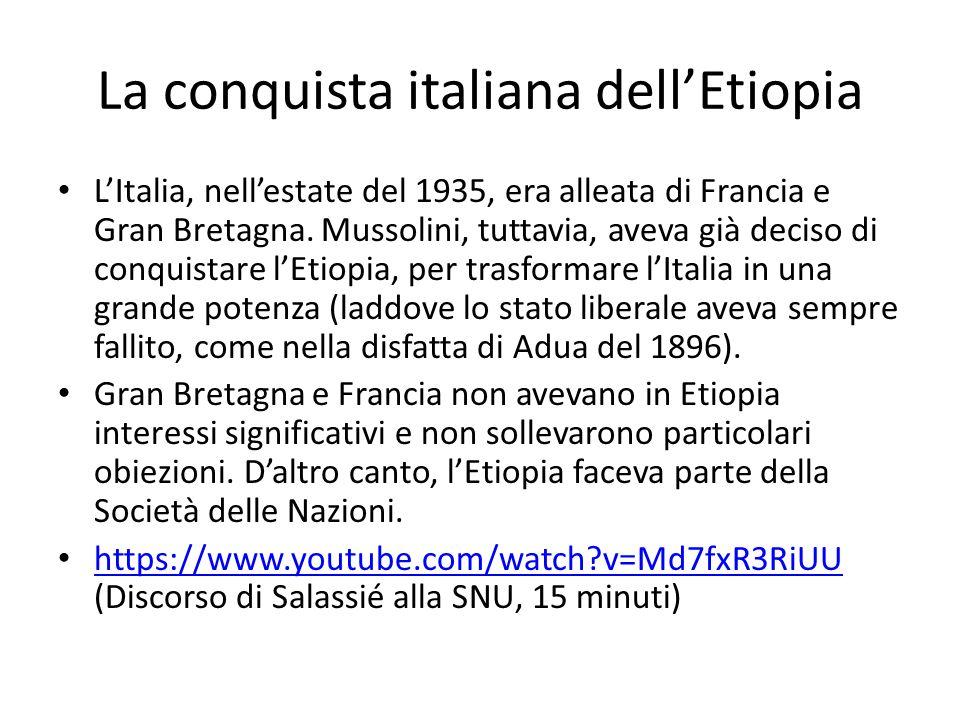 La conquista italiana dell'Etiopia
