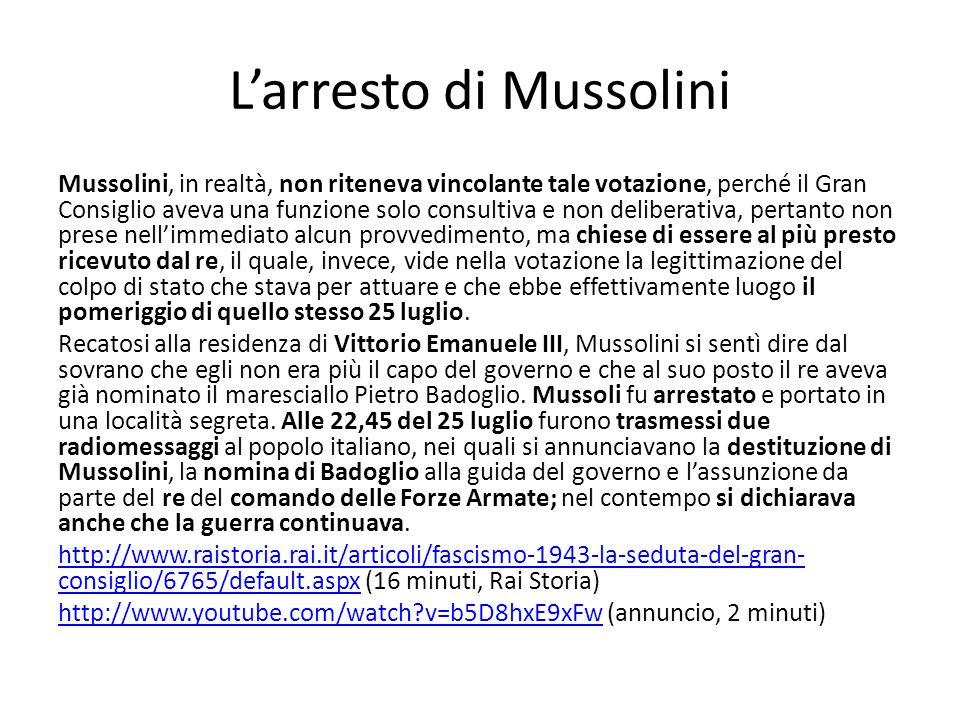 L'arresto di Mussolini