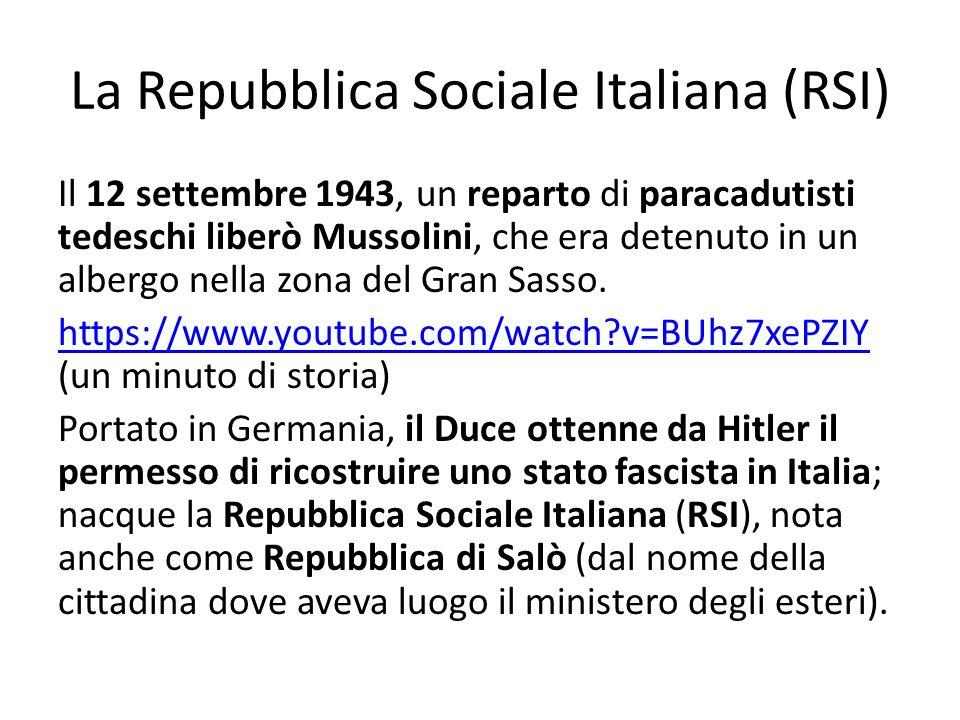 La Repubblica Sociale Italiana (RSI)