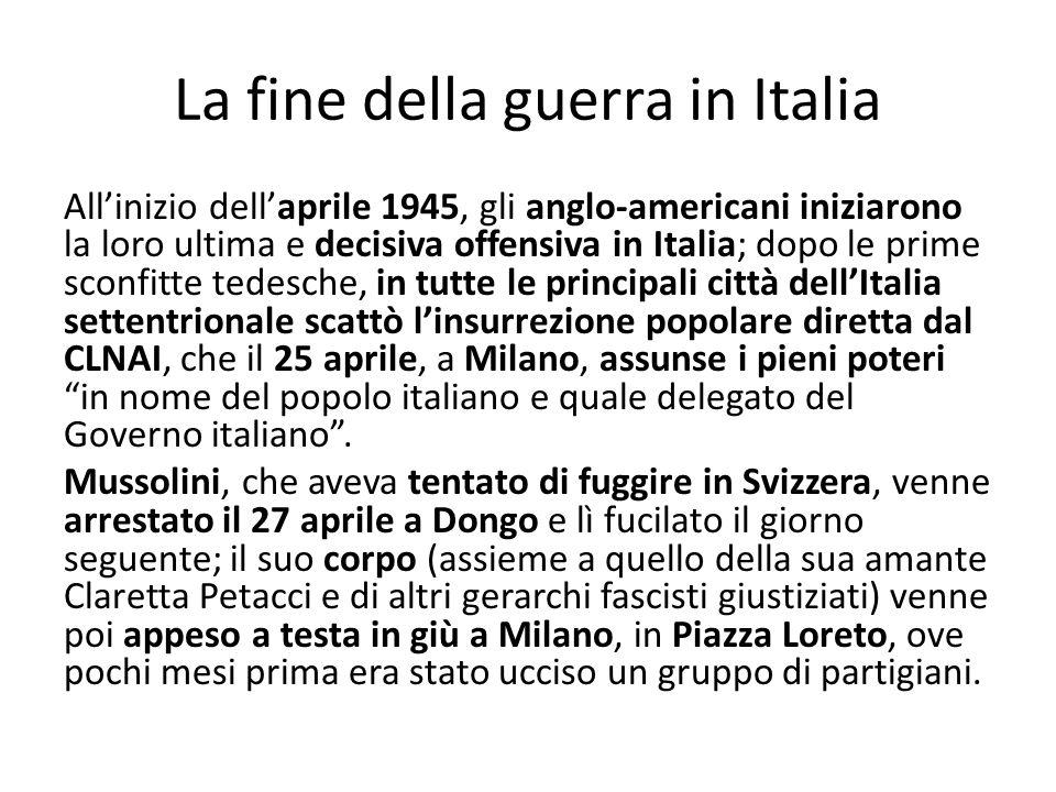 La fine della guerra in Italia
