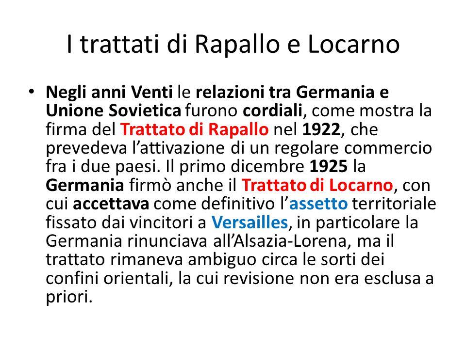 I trattati di Rapallo e Locarno