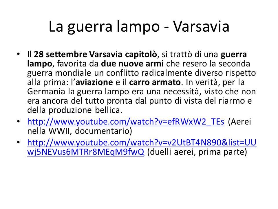 La guerra lampo - Varsavia