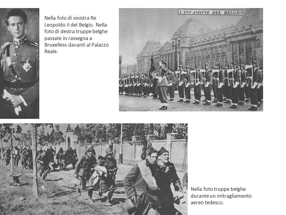 Nella foto di sinistra Re Leopoldo II del Belgio