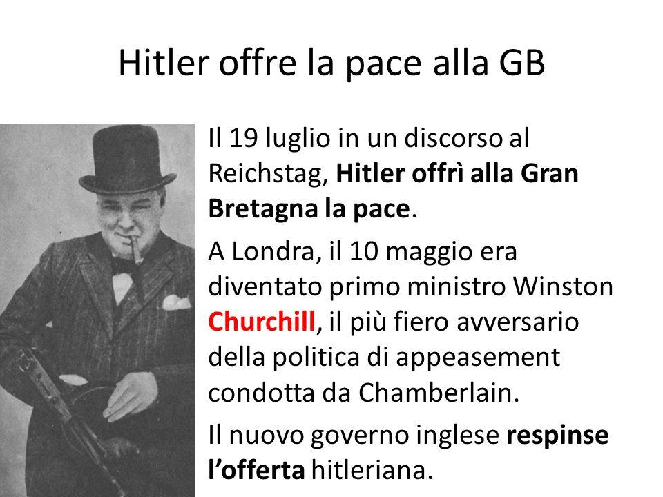 Hitler offre la pace alla GB