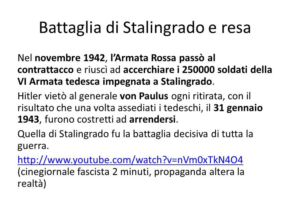 Battaglia di Stalingrado e resa