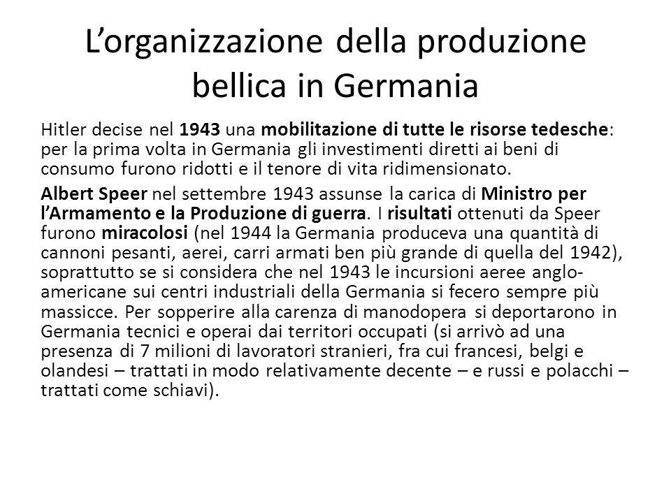 L'organizzazione della produzione bellica in Germania
