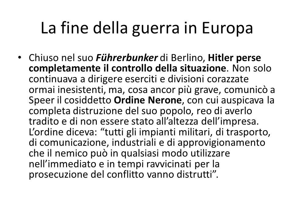 La fine della guerra in Europa