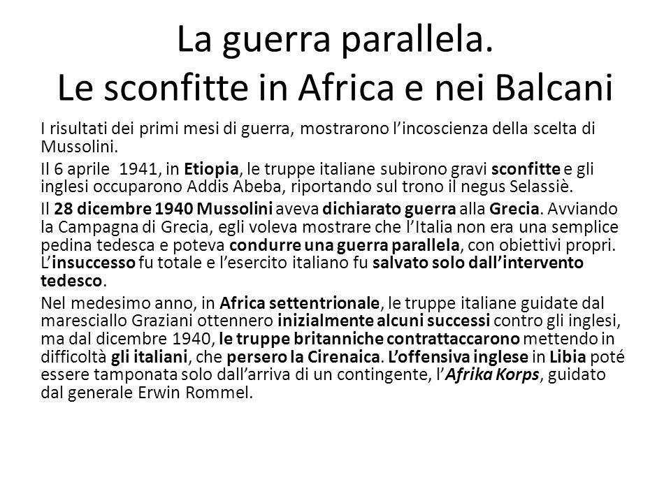 La guerra parallela. Le sconfitte in Africa e nei Balcani