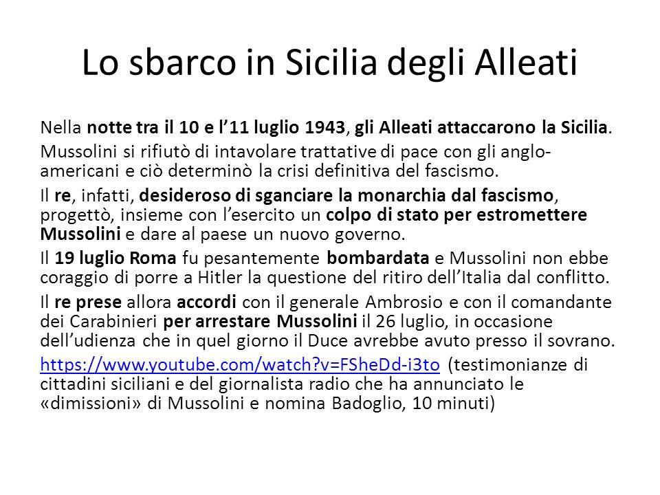 Lo sbarco in Sicilia degli Alleati