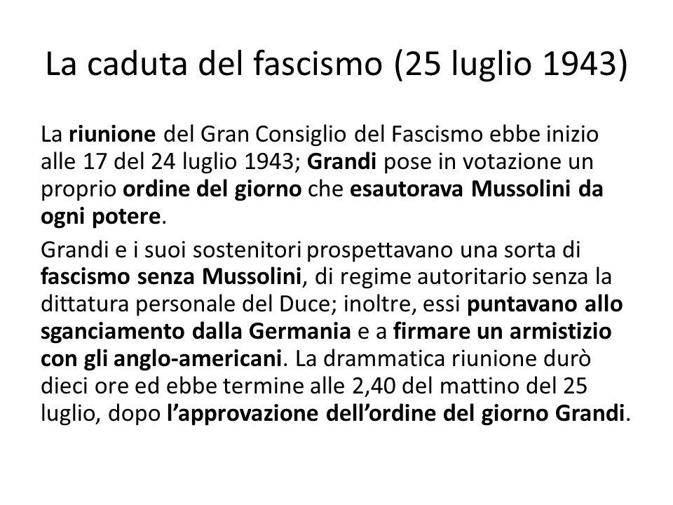 La caduta del fascismo (25 luglio 1943)
