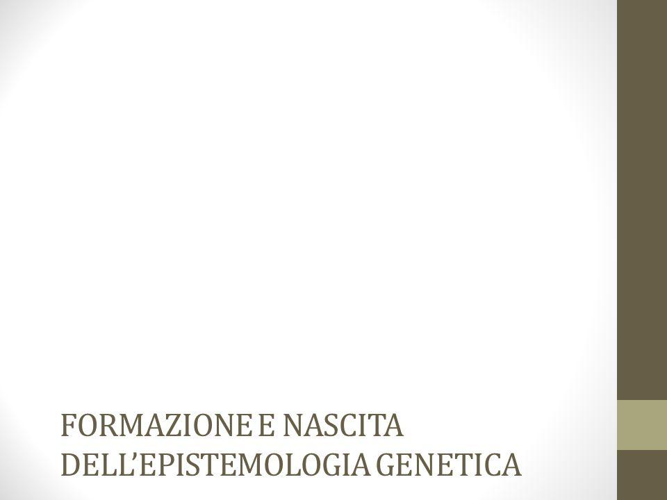 Formazione e nascita dell'epistemologia genetica