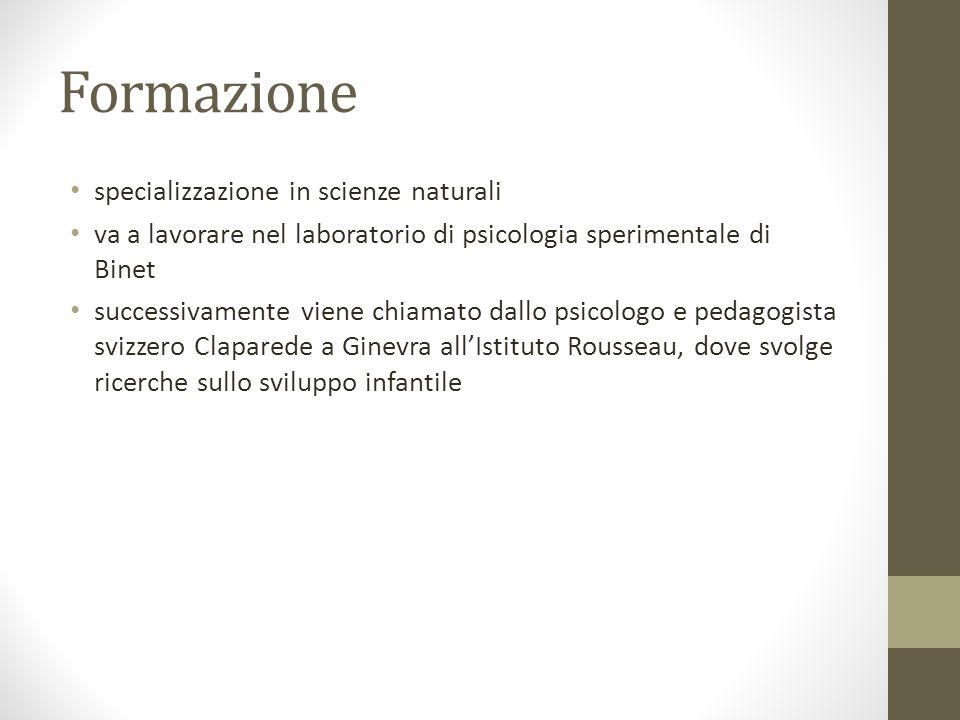 Formazione specializzazione in scienze naturali