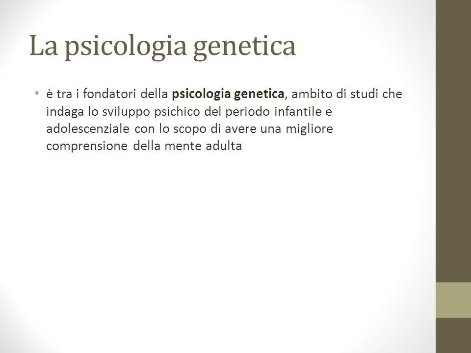 La psicologia genetica