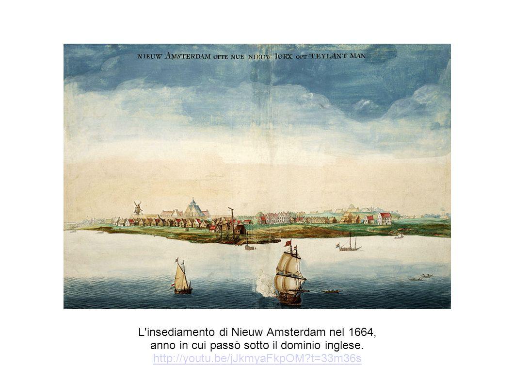 L insediamento di Nieuw Amsterdam nel 1664,