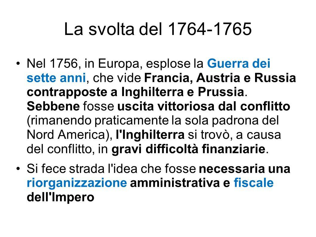 La svolta del 1764-1765