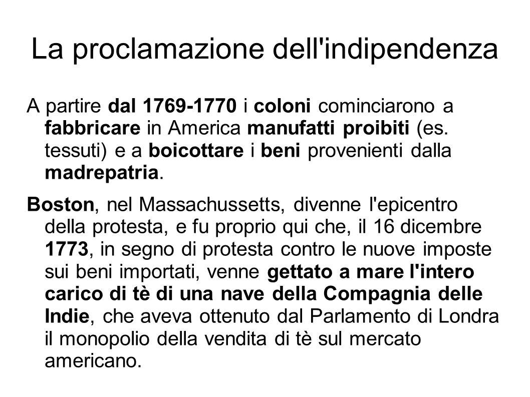 La proclamazione dell indipendenza