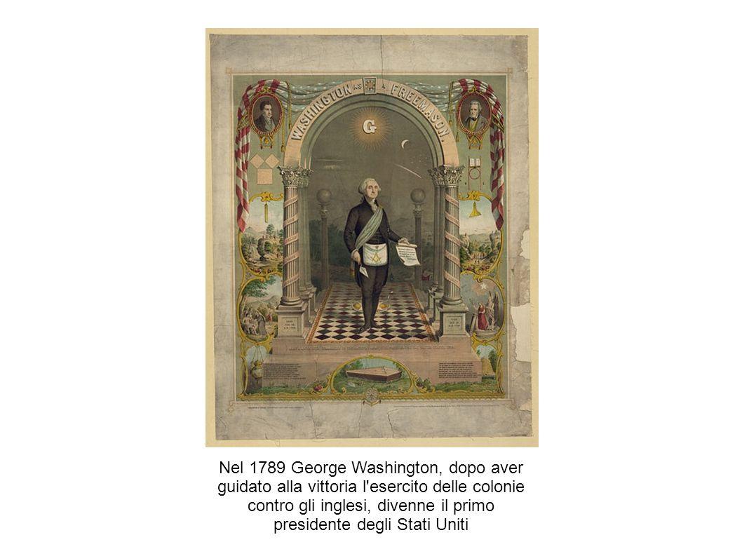 Nel 1789 George Washington, dopo aver guidato alla vittoria l esercito delle colonie contro gli inglesi, divenne il primo presidente degli Stati Uniti