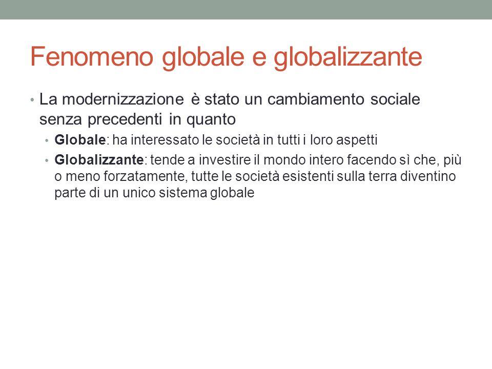 Fenomeno globale e globalizzante