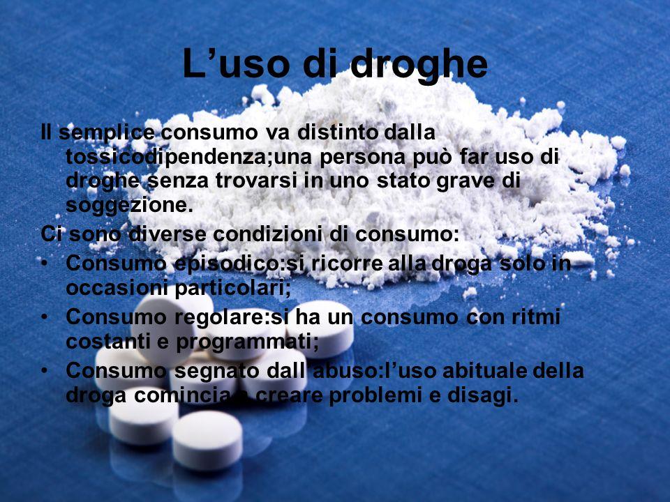 L'uso di droghe