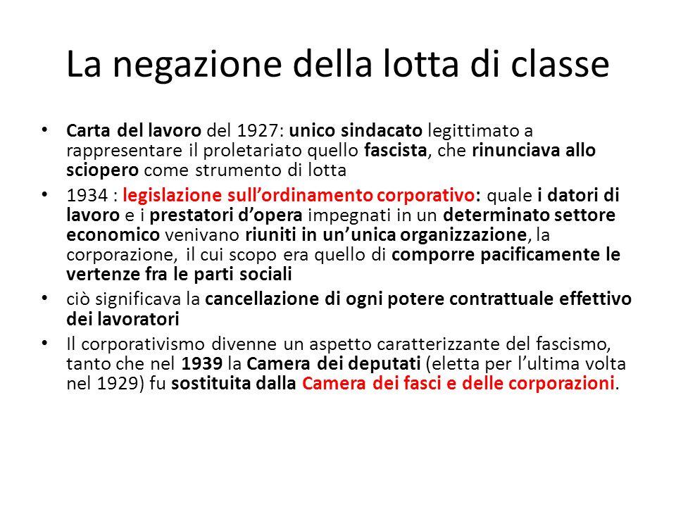 La negazione della lotta di classe