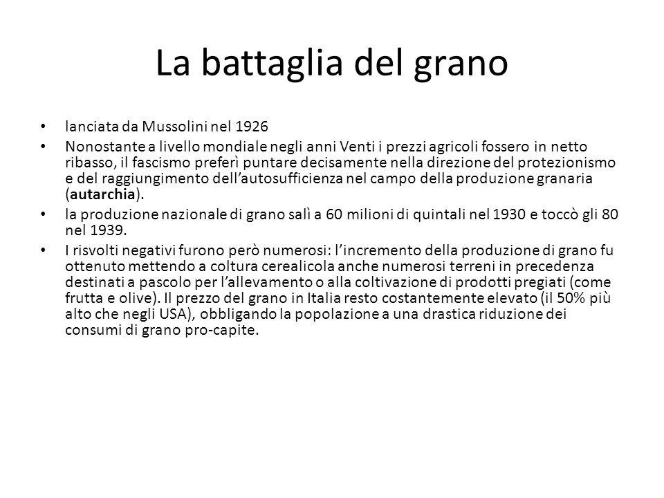 La battaglia del grano lanciata da Mussolini nel 1926