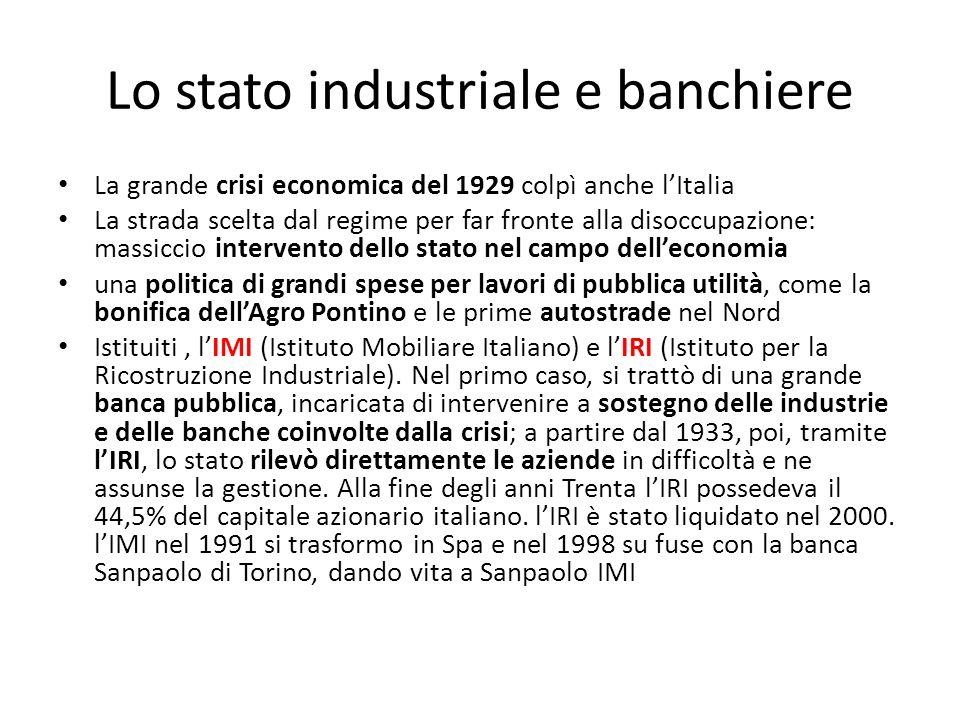 Lo stato industriale e banchiere