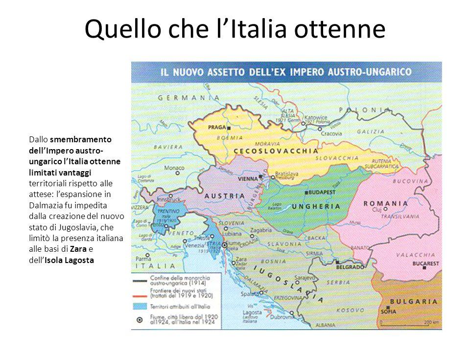 Quello che l'Italia ottenne