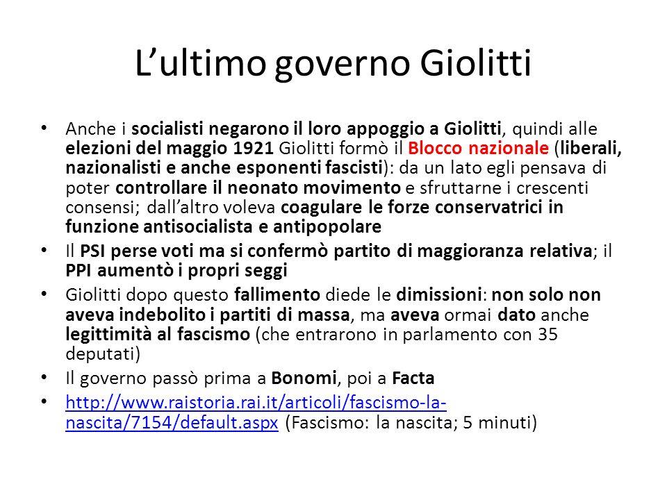 L'ultimo governo Giolitti