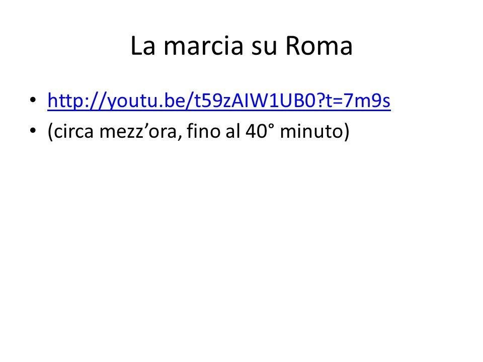 La marcia su Roma http://youtu.be/t59zAIW1UB0 t=7m9s