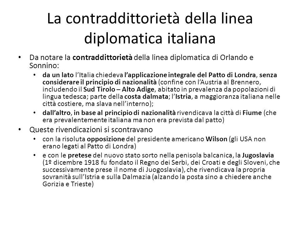 La contraddittorietà della linea diplomatica italiana