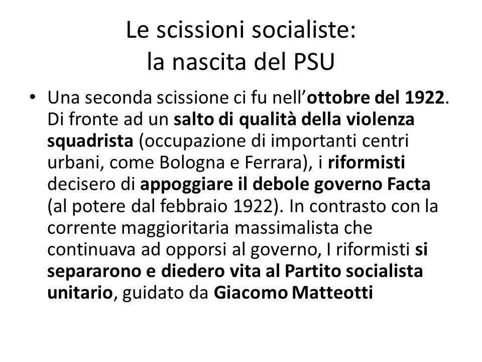 Le scissioni socialiste: la nascita del PSU