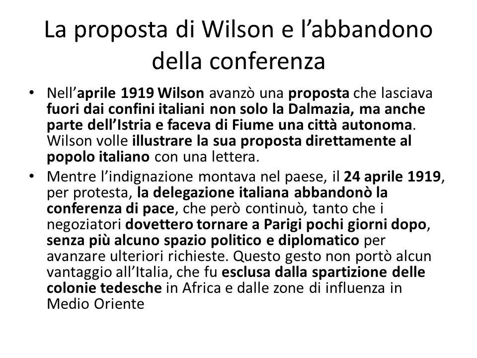 La proposta di Wilson e l'abbandono della conferenza