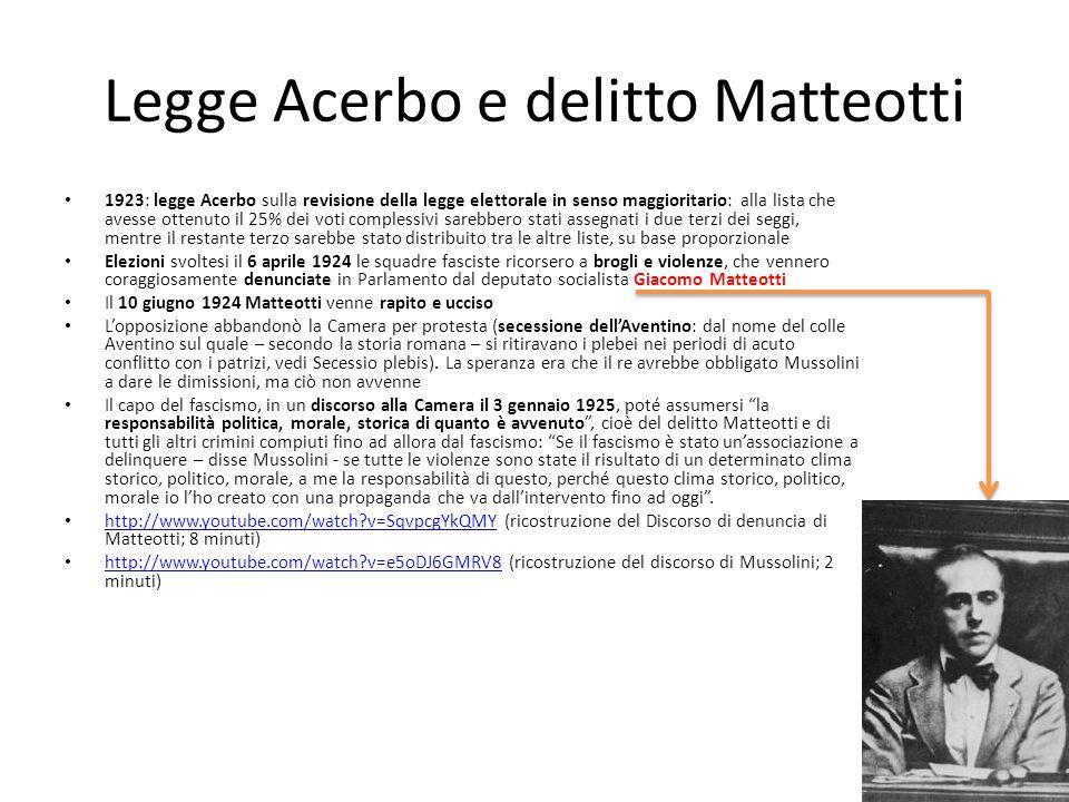 Legge Acerbo e delitto Matteotti