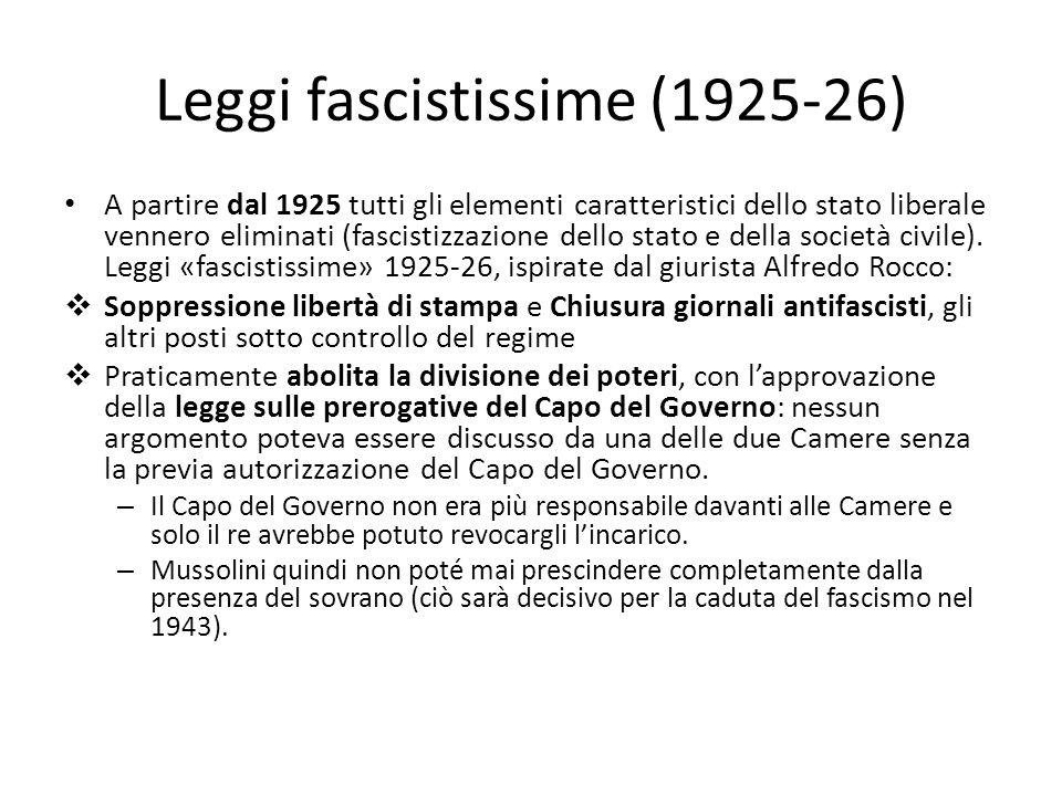 Leggi fascistissime (1925-26)