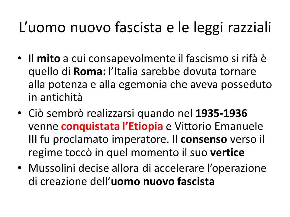 L'uomo nuovo fascista e le leggi razziali
