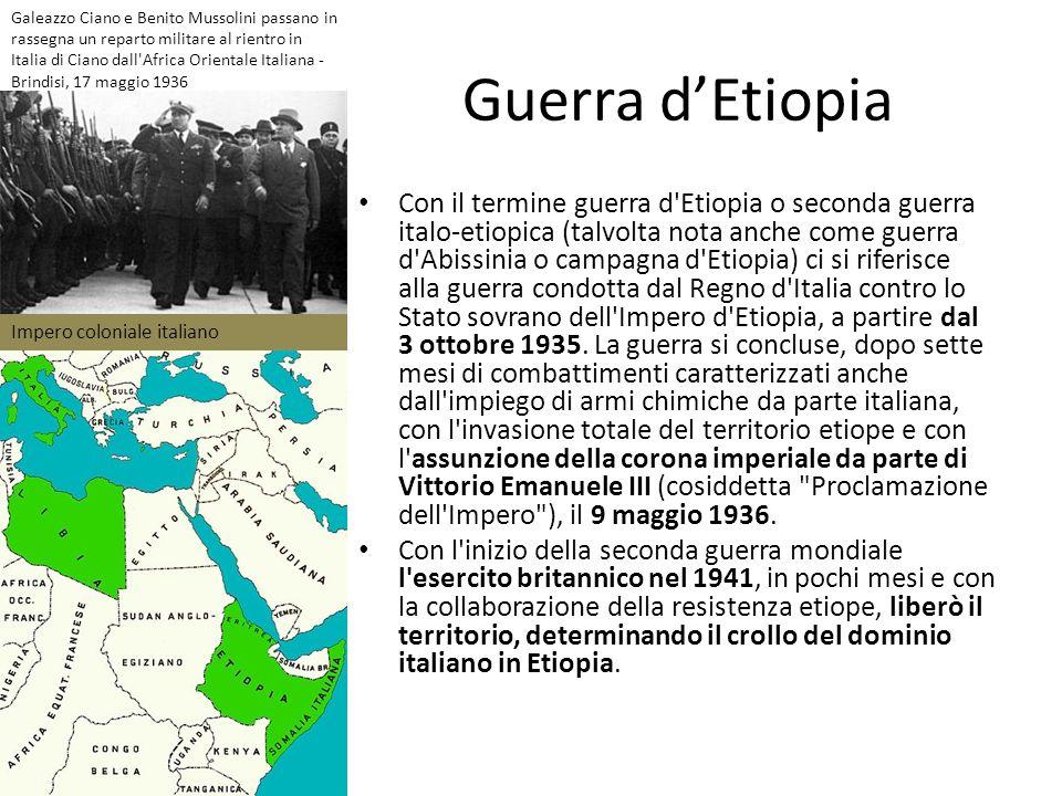 Galeazzo Ciano e Benito Mussolini passano in rassegna un reparto militare al rientro in Italia di Ciano dall Africa Orientale Italiana - Brindisi, 17 maggio 1936