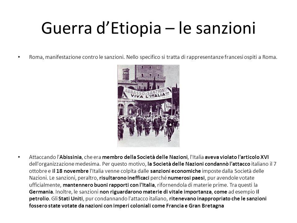 Guerra d'Etiopia – le sanzioni