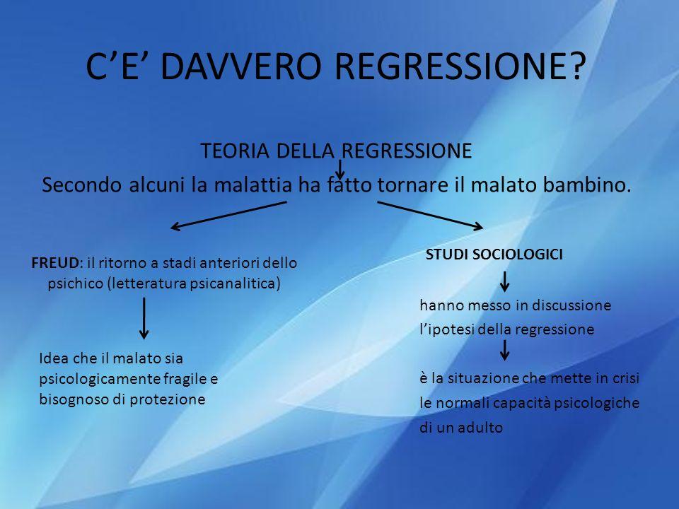 C'E' DAVVERO REGRESSIONE