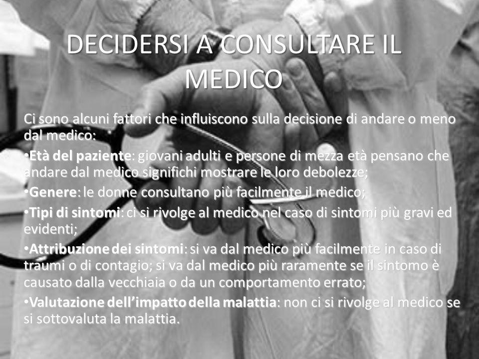 DECIDERSI A CONSULTARE IL MEDICO