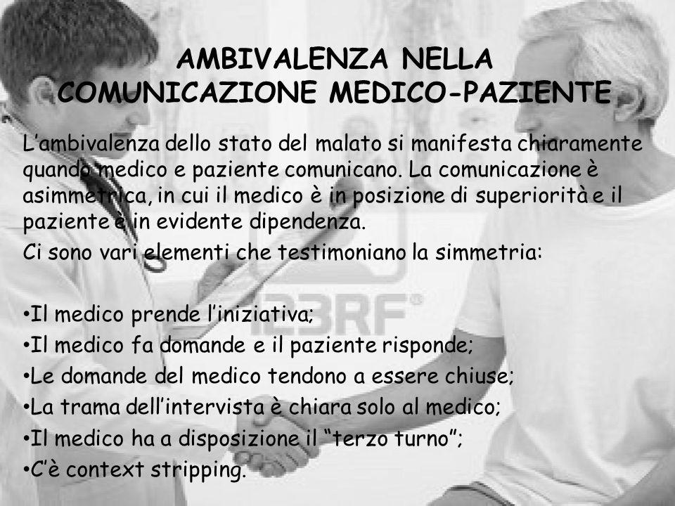AMBIVALENZA NELLA COMUNICAZIONE MEDICO-PAZIENTE
